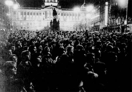 Tuần lễ tưởng niệm Jan Palach, tháng 1-1989, được coi là khởi điểm sự sụp đổ của CNCS tại Tiệp Khắc - Ảnh tư liệu