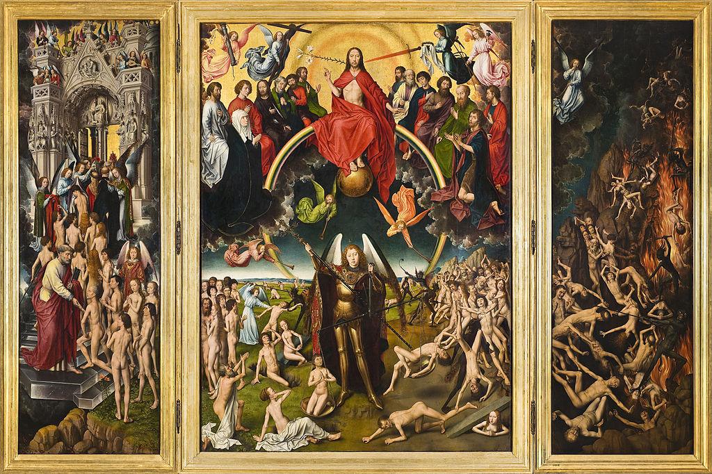 """Họa phẩm """"Sự phán xét cuối cùng"""" (1466-1473) của họa sĩ Hans Memling (Bảo tàng Quốc gia Gdańsk)"""