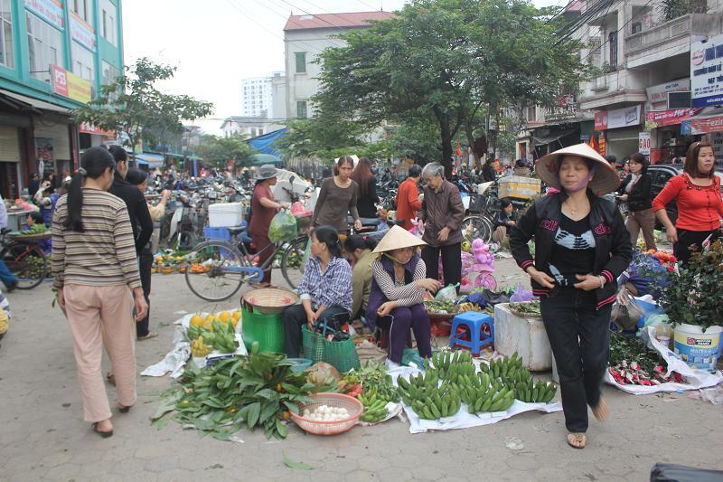 Chợ ngày tết - Ảnh: Bích Ngọc