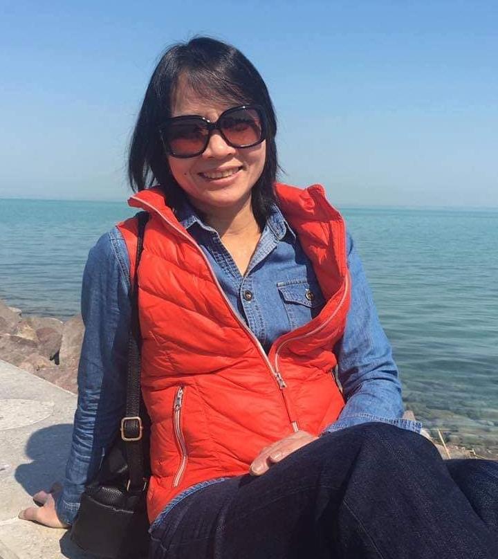 Chị Nguyễn Thái Tuyết Hoa và nụ cười không bao giờ vắng bóng trên môi - Ảnh: Facebook của nhân vật