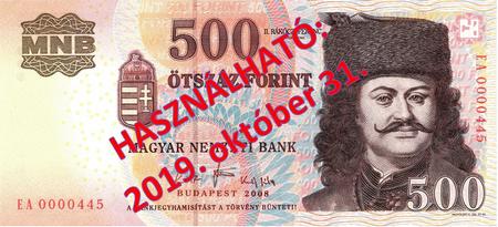 Tiền giấy 500 Forint loại cũ
