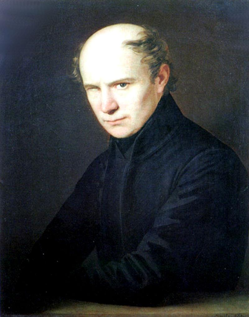 Thi hào Kölcsey Ferenc (1790-1838) - Tranh sơn dầu của Anton Einsle