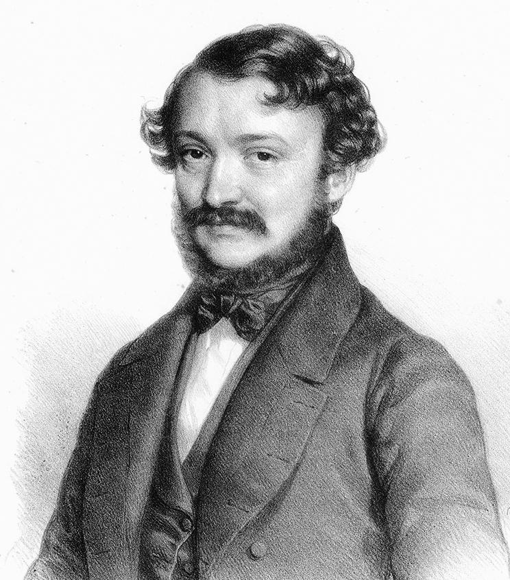 Nhạc sĩ Erkel Ferenc (1810-1893) - Tranh của danh họa Barabás Miklós (1845)