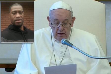Đức Giáo hoàng trong buổi tiếp kiến chung định kỳ hàng tuần tại Tòa Thánh, khi Ngài nói về trường hợp của George Floyd - Ảnh: reportdoor.com