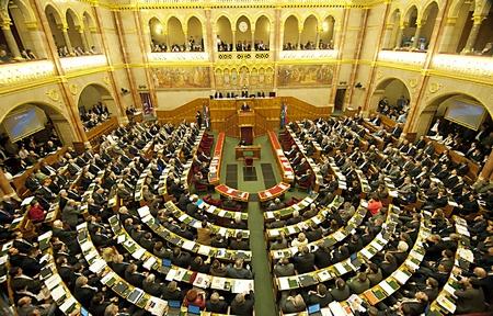 Một buổi họp của Quốc hội Hungary - Ảnh: parlament.hu