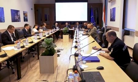 Thủ tướng Orbán Viktor chủ trì cuộc họp Ban chỉ đạo Phòng chống Coronavirus sáng 29-8 - Ảnh chụp màn hình