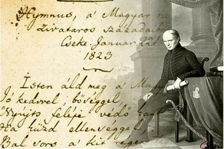 """Thi hào Kölcsey Ferenc và bản thảo """"Hymnus"""" - Ảnh: cultura.hu"""