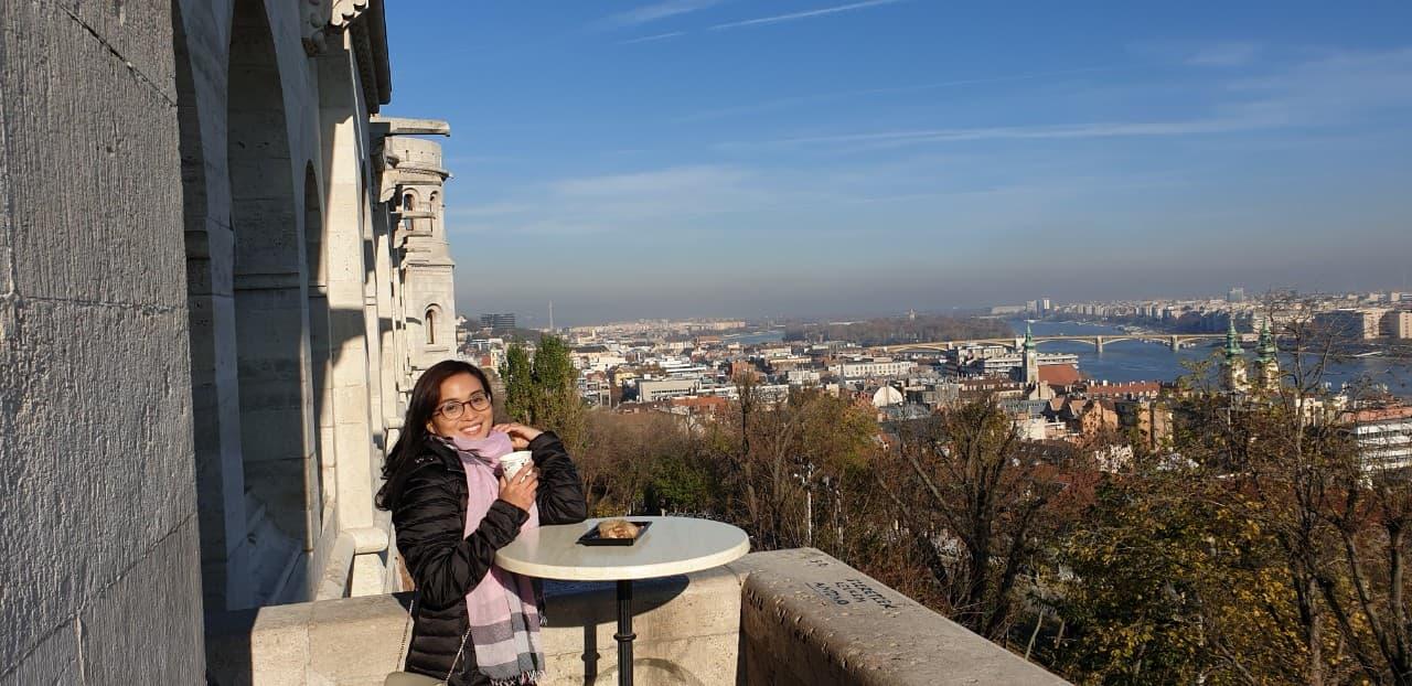Nhà báo Đinh Loan tại Budapest, 2020 - Ảnh do nhân vật cung cấp