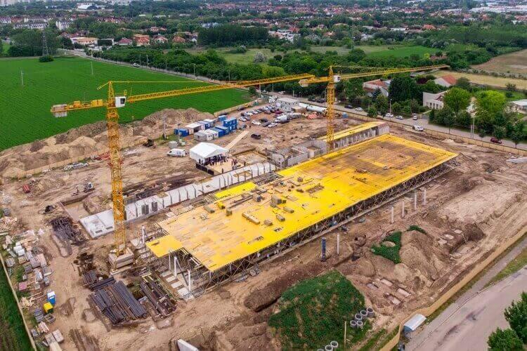 Xây dựng Nhà máy Vaccine Quốc gia ở TP. Debrecen - Ảnh: Czeglédi Zsolt (MTI)