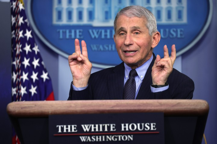 BS. Anthony Fauci, ngày 21/1/2021 tại Washington DC - Ảnh: Alex Wong (AFP)