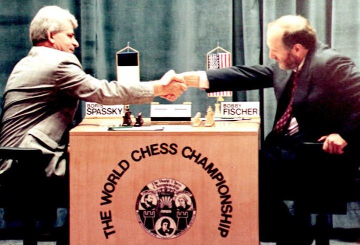 Trận đấu năm 1992 của Fischer và Spassky - Ảnh: AFP