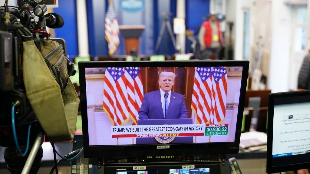 Tổng thống mãn nhiệm Donald Trump trong phát biểu chia tay - Ảnh: AFP