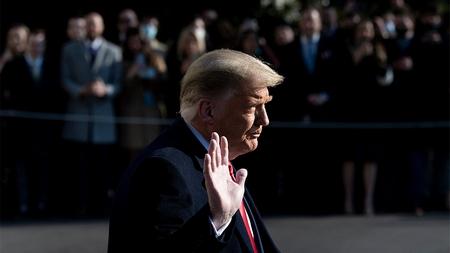 Tổng thống mãn nhiệm Donald Trump - Ảnh: Brendan Smialowski (AFP)