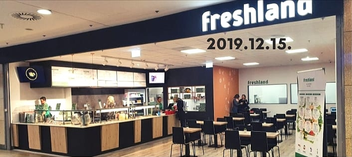 Nhà hàng Freshland tại Trung tâm Árkád (Budapest) vào thời điểm khai trương (tháng 12/2019) - Ảnh: Gyömbér Ákos