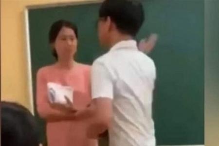 Vụ nam sinh tát cô giáo đang gây ý kiến đa chiều trong công luận - Ảnh chụp màn hình