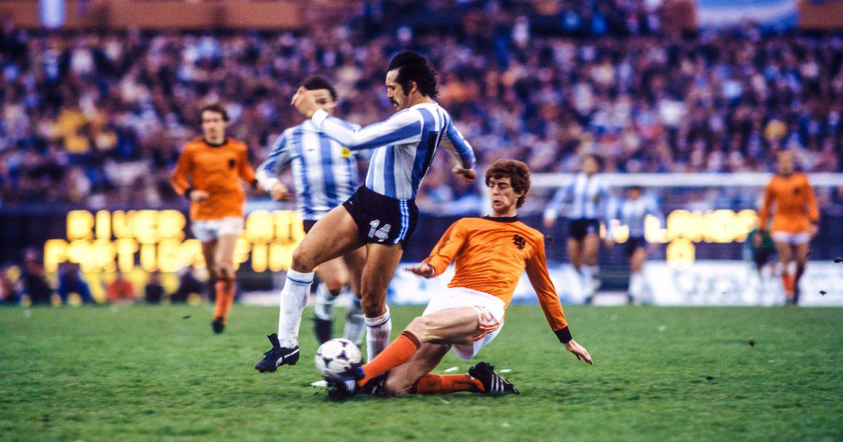 Trong trận chung kết World Cup 1978 với Hà Lan - Ảnh tư liệu