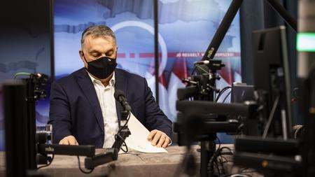 Thủ tướng Orbán Viktor trả lời phỏng vấn Kossuth Rádió - Ảnh: MTI